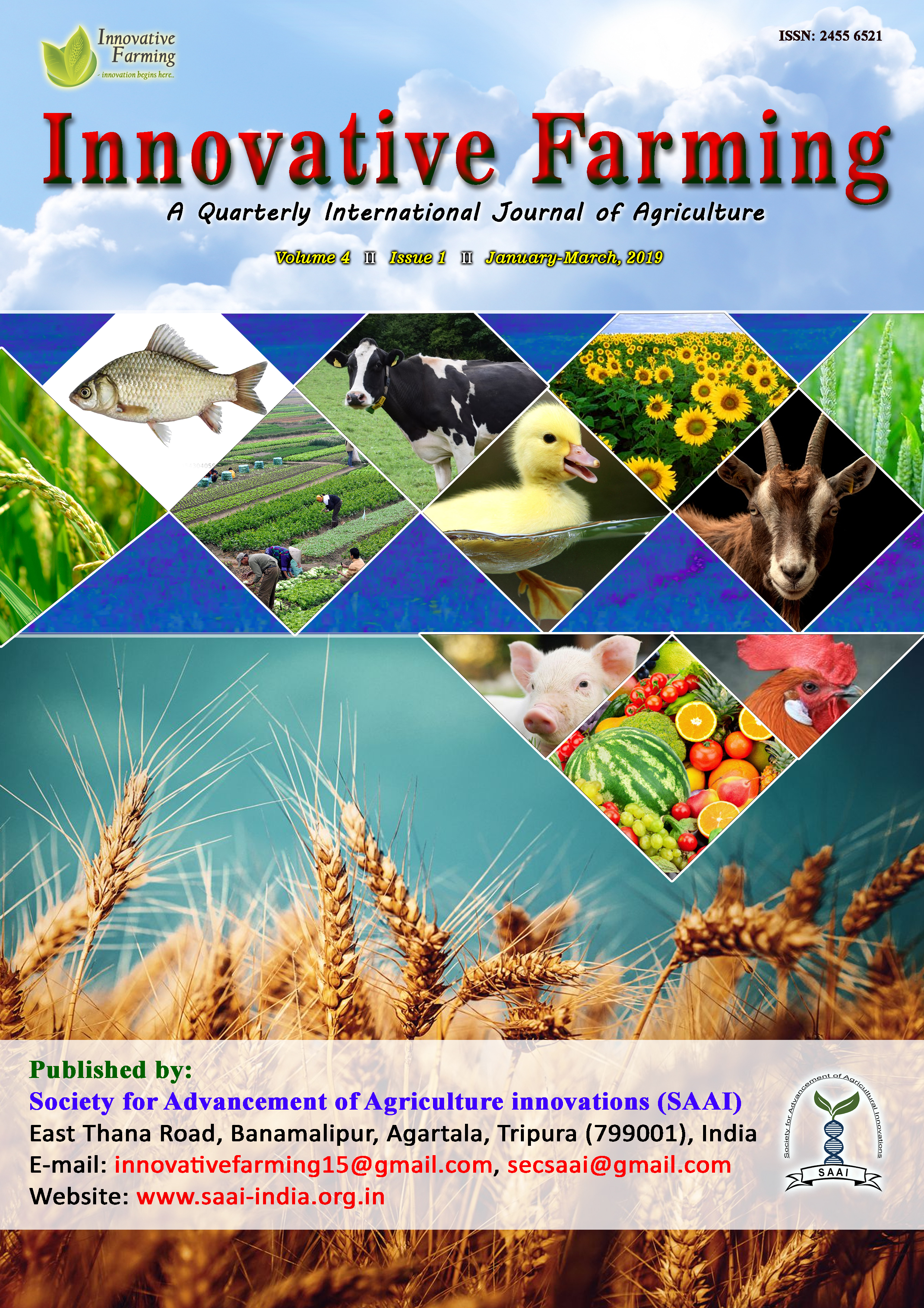 Innovative Farming Vol 4 Issue 1 Cover Page